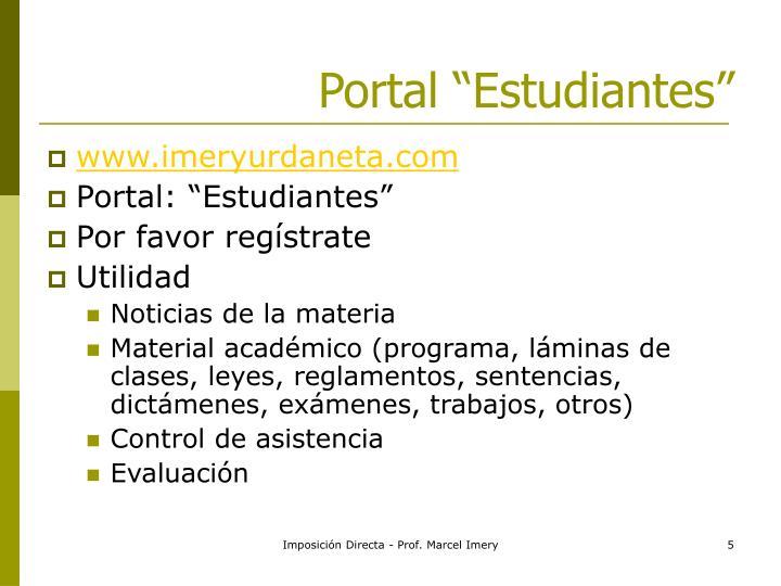 """Portal """"Estudiantes"""""""