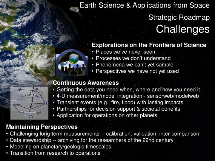 Earth Science & Applications from Space Strategic Roadmap