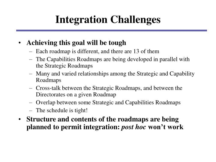 Integration Challenges