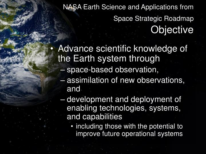 NASA Earth Science and Applications from Space Strategic Roadmap