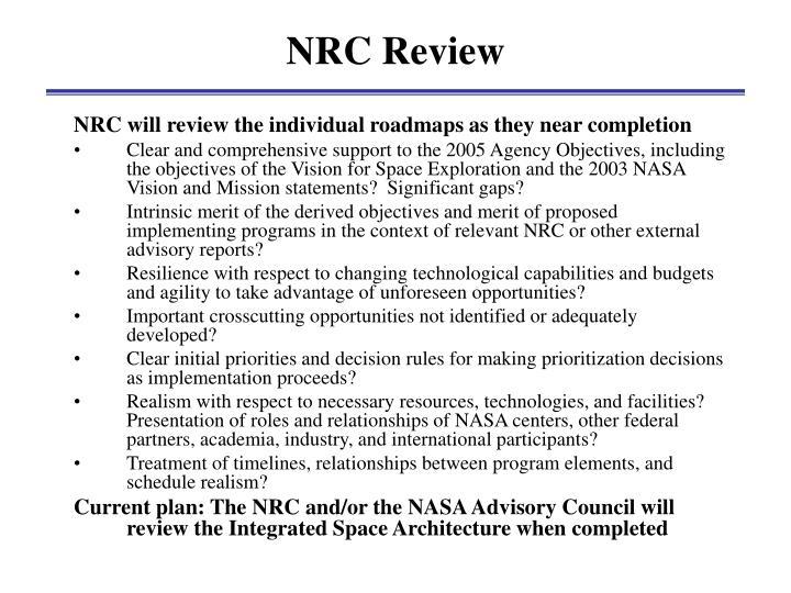 NRC Review
