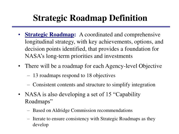 Strategic Roadmap Definition