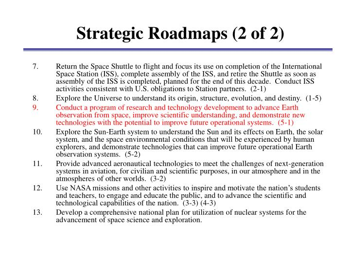 Strategic Roadmaps (2 of 2)