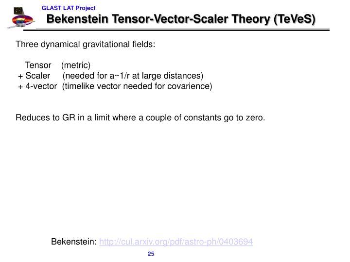 Bekenstein Tensor-Vector-Scaler Theory (TeVeS)