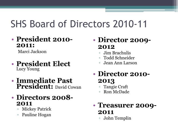 President 2010-2011: