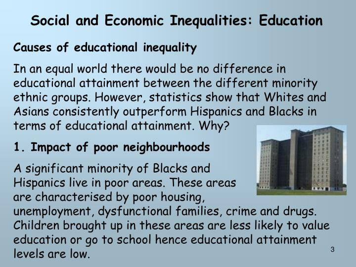 Social and Economic Inequalities: Education
