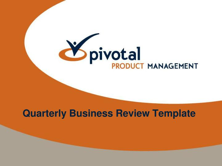 Ppt  Quarterly Business Review Template Powerpoint Presentation