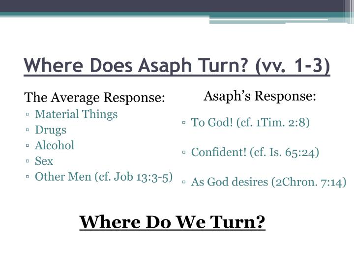 Where Does Asaph Turn? (vv. 1-3)