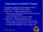 implications of greater p inputs