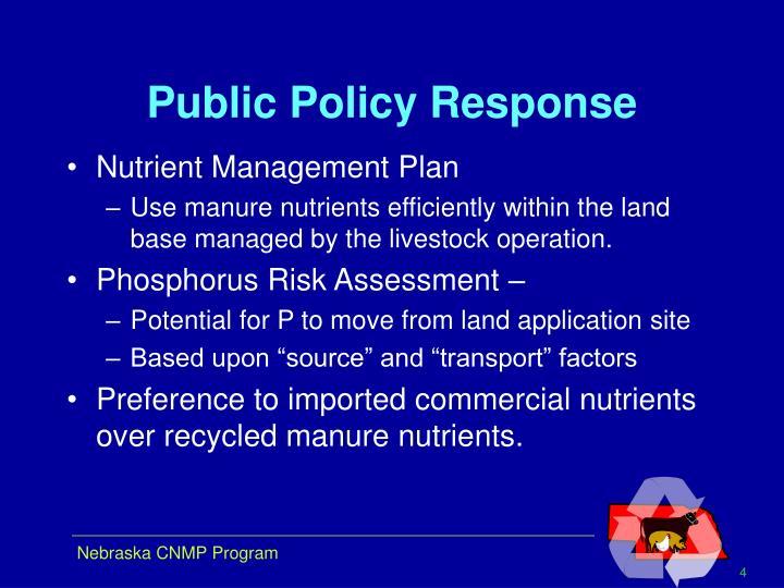 Public Policy Response