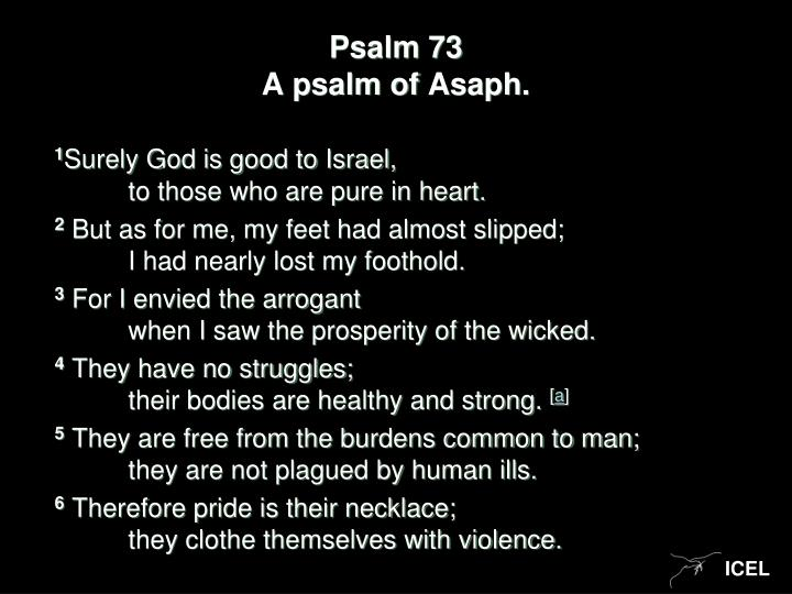 Psalm 73 a psalm of asaph