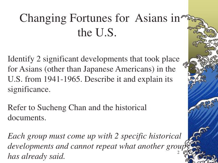 Changing Fortunes for  Asians in the U.S.