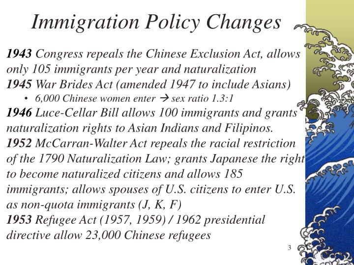 Immigration Policy Changes