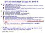 environmental issues in itu r