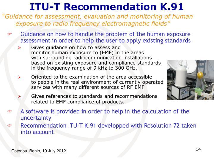 ITU-T Recommendation K.91