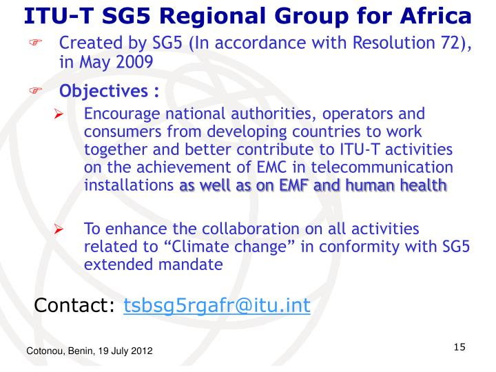 ITU-T SG5 Regional Group for Africa