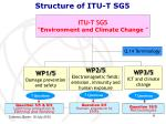 structure of itu t sg5