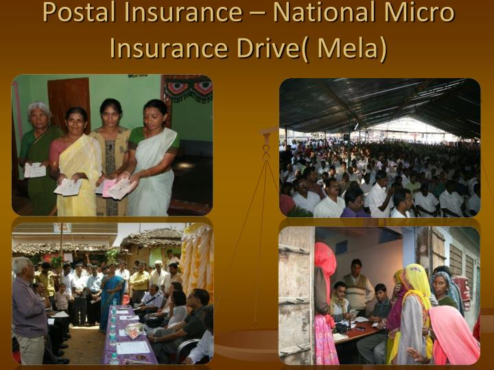 Postal Insurance – National Micro Insurance Drive(