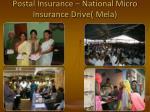 postal insurance national micro insurance drive mela