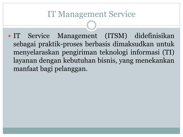 It management service