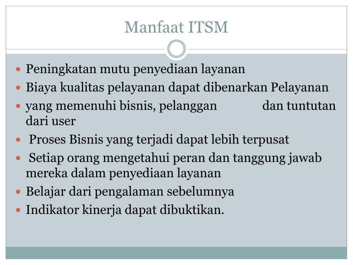 Manfaat ITSM