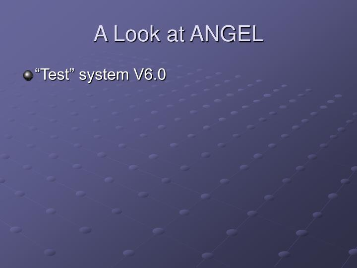 A Look at ANGEL