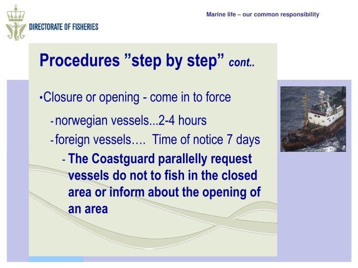 """Procedures """"step by step"""""""