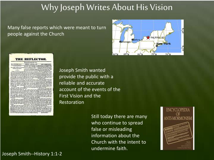 Why Joseph Writes About