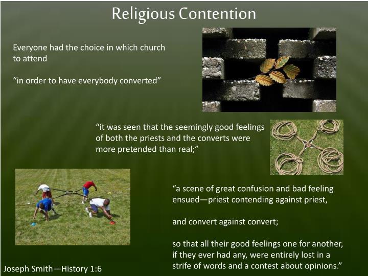Religious Contention