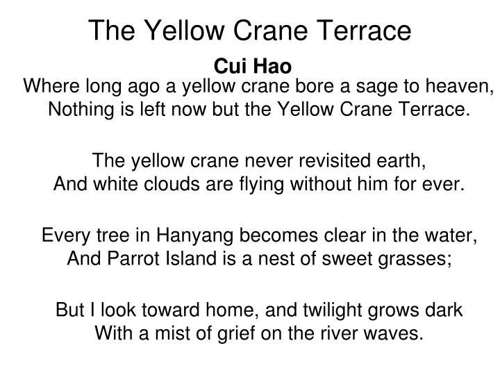 The Yellow Crane Terrace