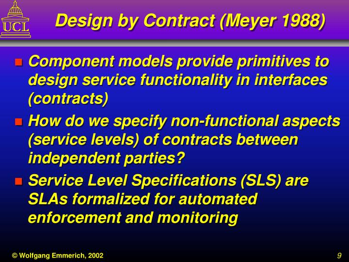 Design by Contract (Meyer 1988)