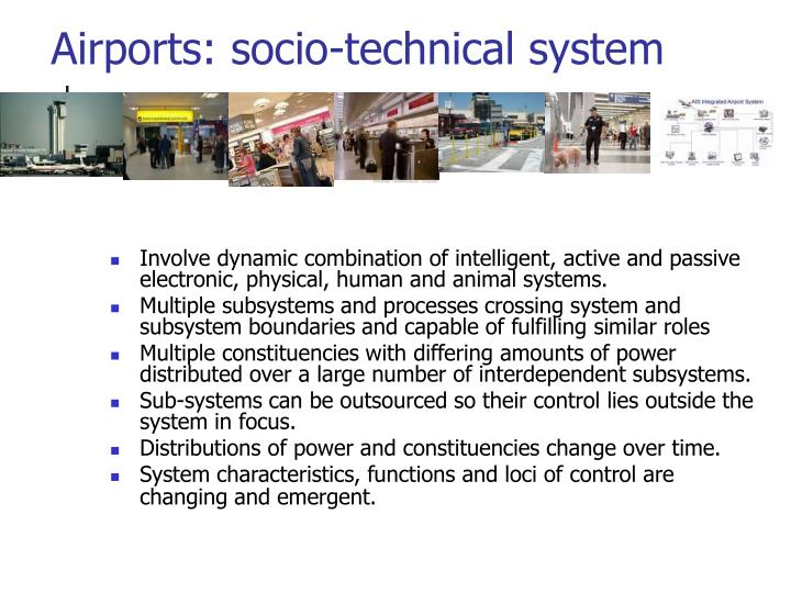 Airports: socio-technical system