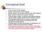 conceptual level