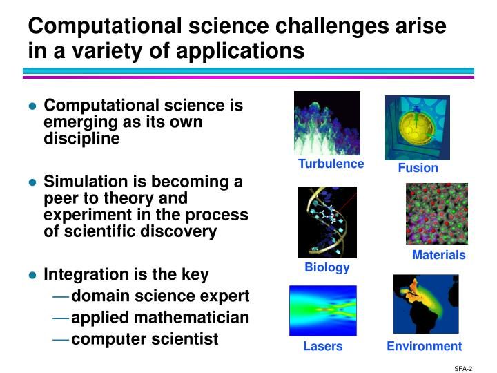 Computational science challenges arise in a variety of applications