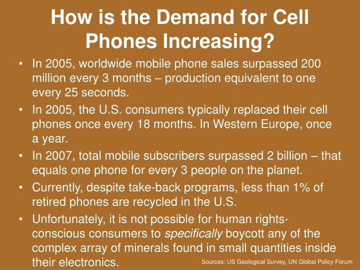 How is the Demand for Cell Phones Increasing?