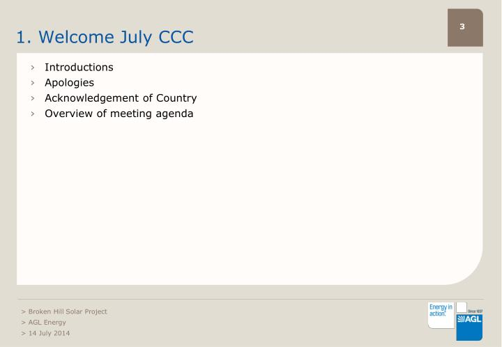 1. Welcome July CCC