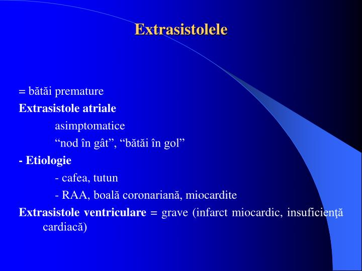 Extrasistolele