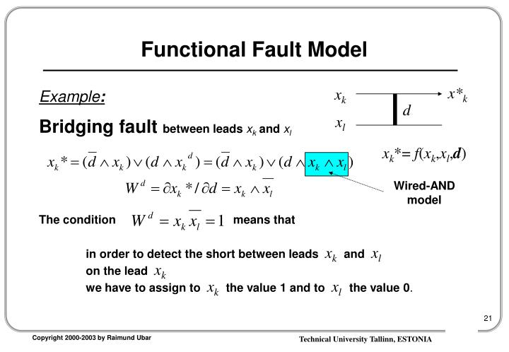 Functional Fault Model