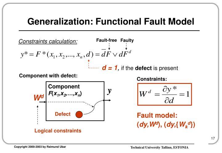 Generalization: Functional Fault Model