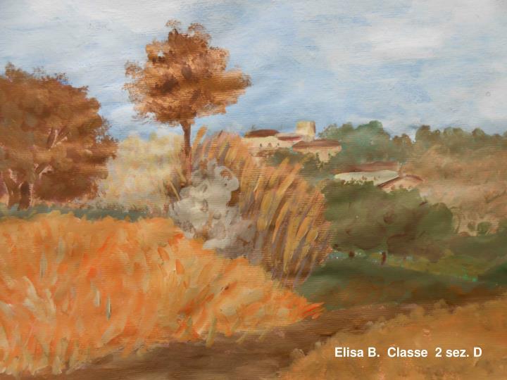 Elisa B.  Classe  2 sez. D