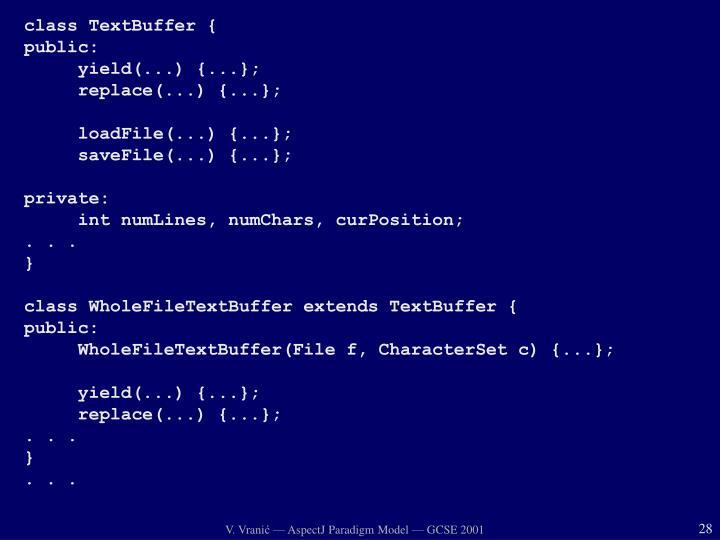 class TextBuffer {