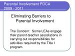eliminating barriers to parental involvement