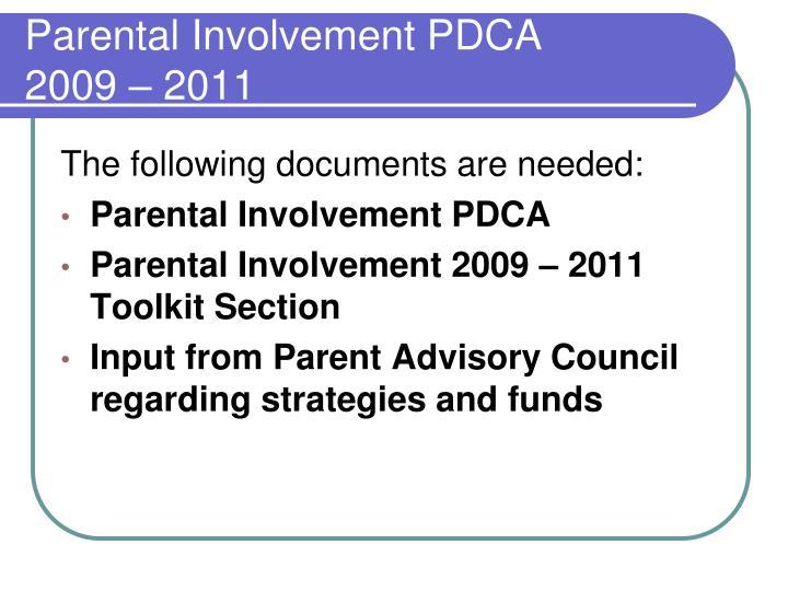 Parental Involvement PDCA