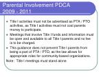 parental involvement pdca 2009 20118