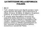 la costituzione della repubblica italiana