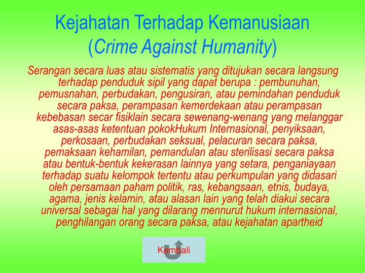 Kejahatan Terhadap Kemanusiaan