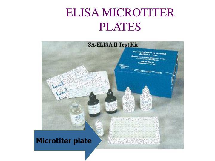 ELISA MICROTITER PLATES