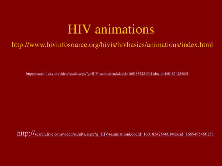 HIV animations