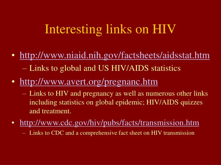 Interesting links on HIV