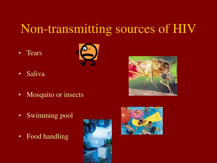 Non-transmitting sources of HIV
